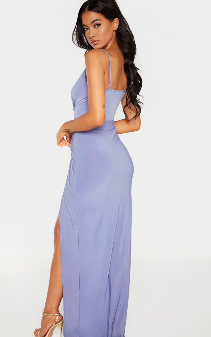 Blue Knot Front Strappy Maxi Dress 2