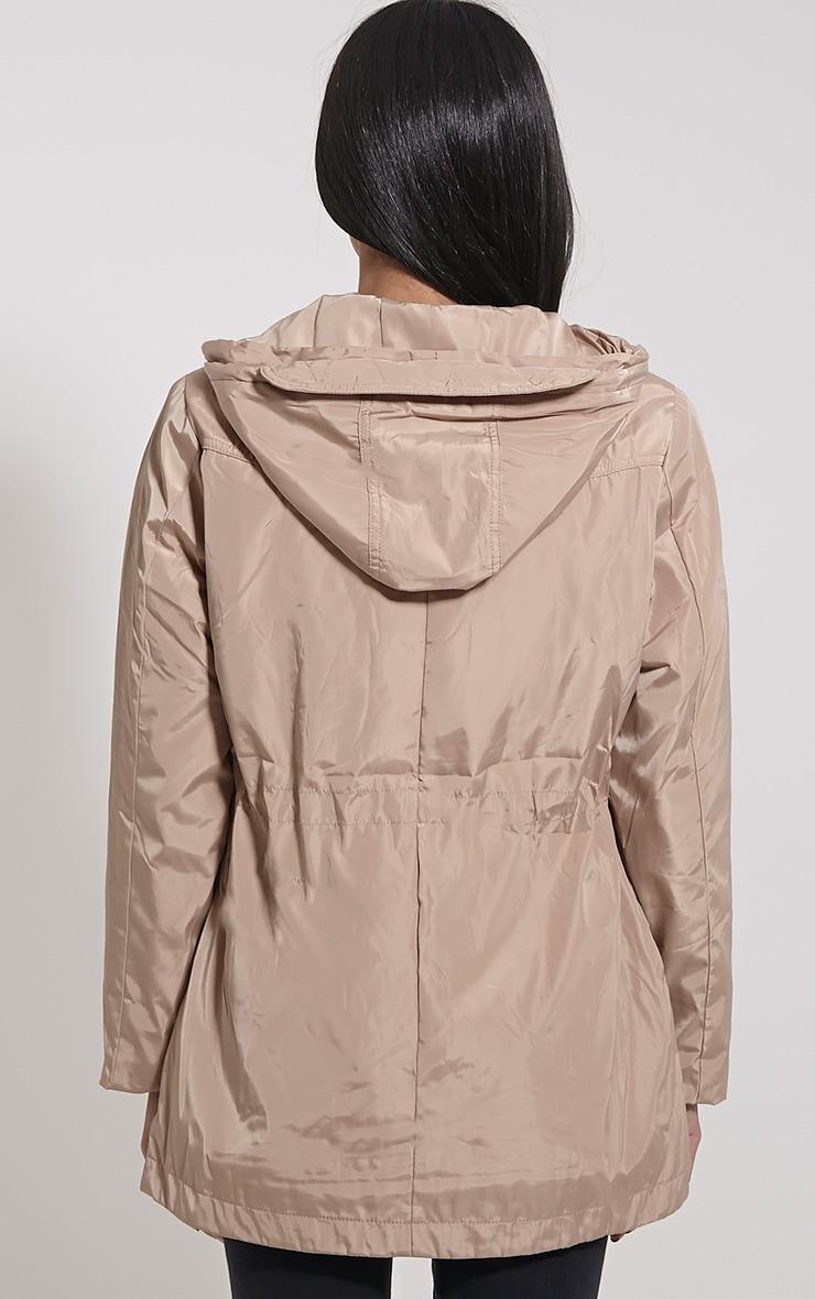 Safi Beige Hooded Coat 2