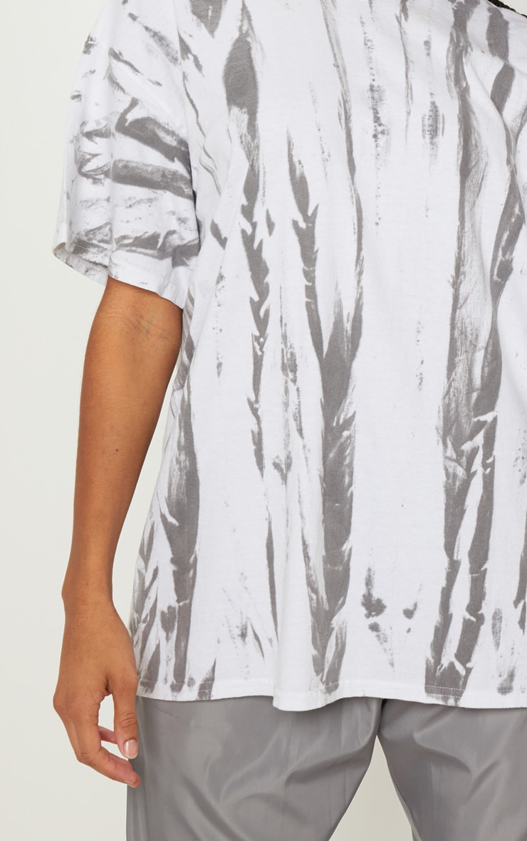 White Tie Dye Oversized T Shirt 5