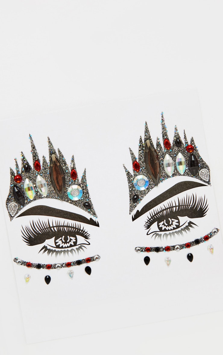 PRETTYLITTLETHING Queen of Hearts Face Stickers 3