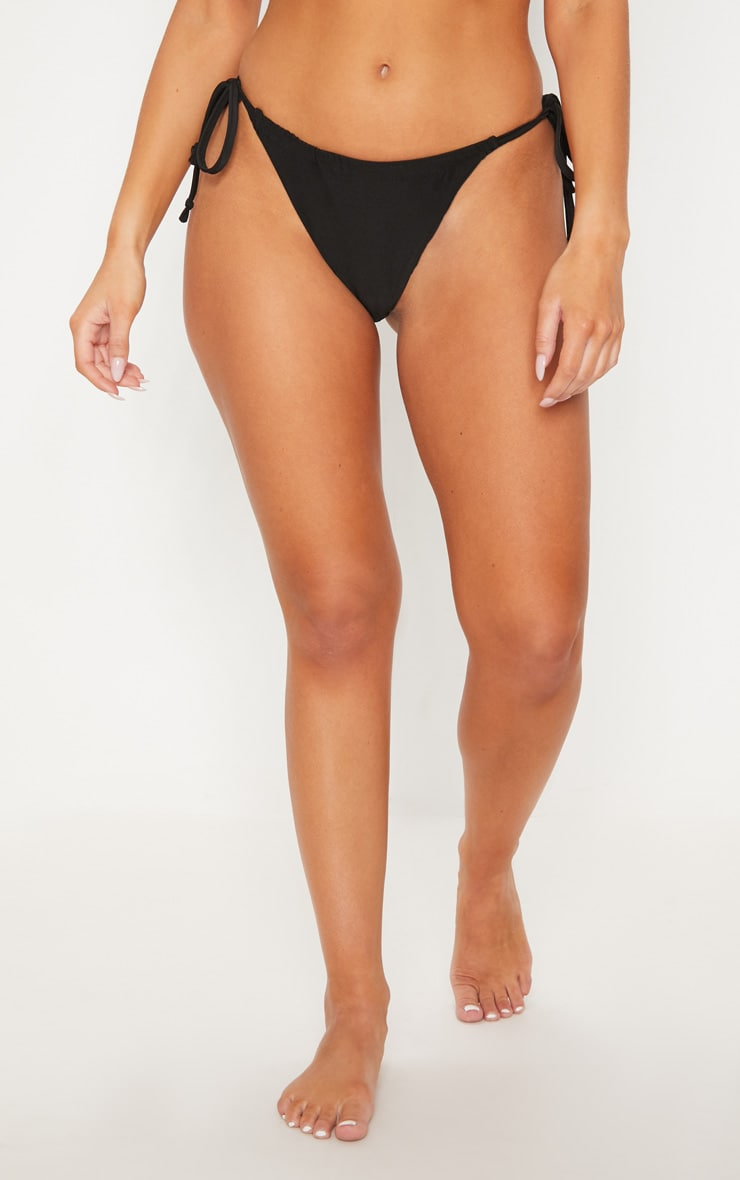 Black Minimal Adjustable Bikini Set 6