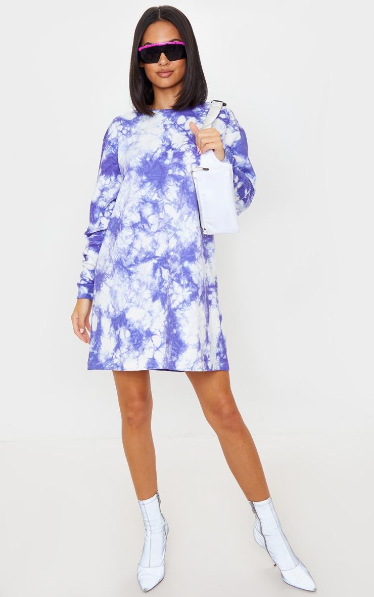 Lilac Youth Back Print Tie Dye Oversized Jumper Dress 5