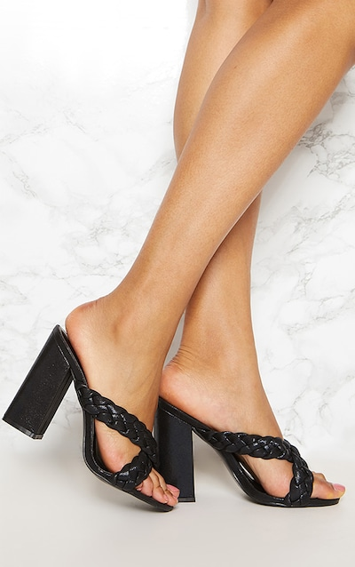 Black Clear Strap Point Toe Barely There Sandal Pretty Little Thing wmyeXXZoQ