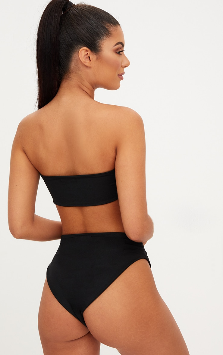 Black Mix & Match Bandeau Bikini Top 2
