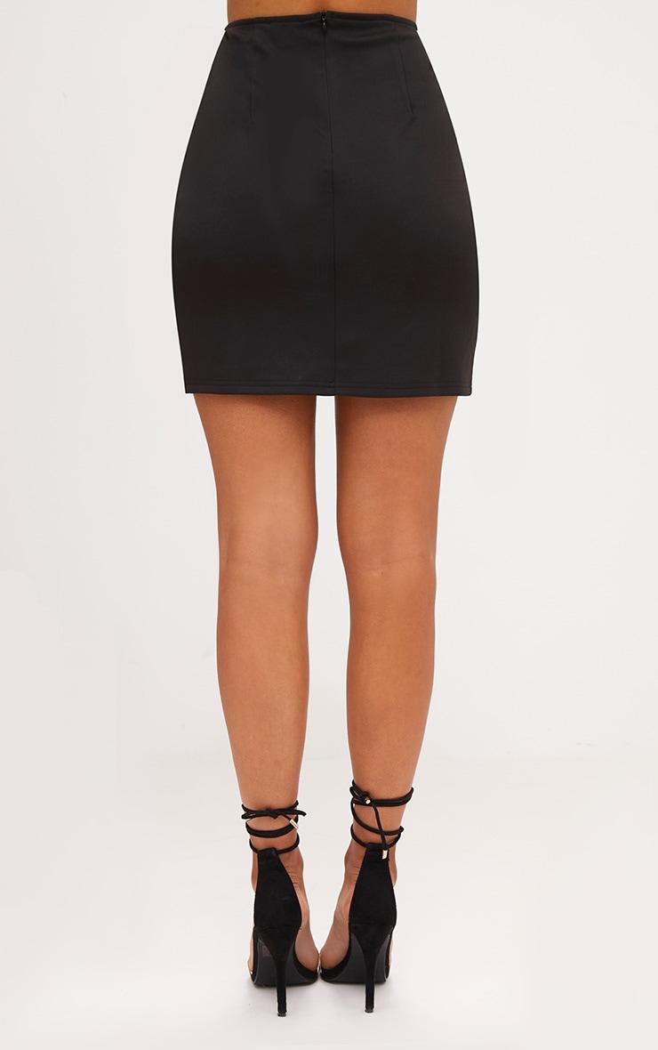 Black Sequin Panel Skirt 4