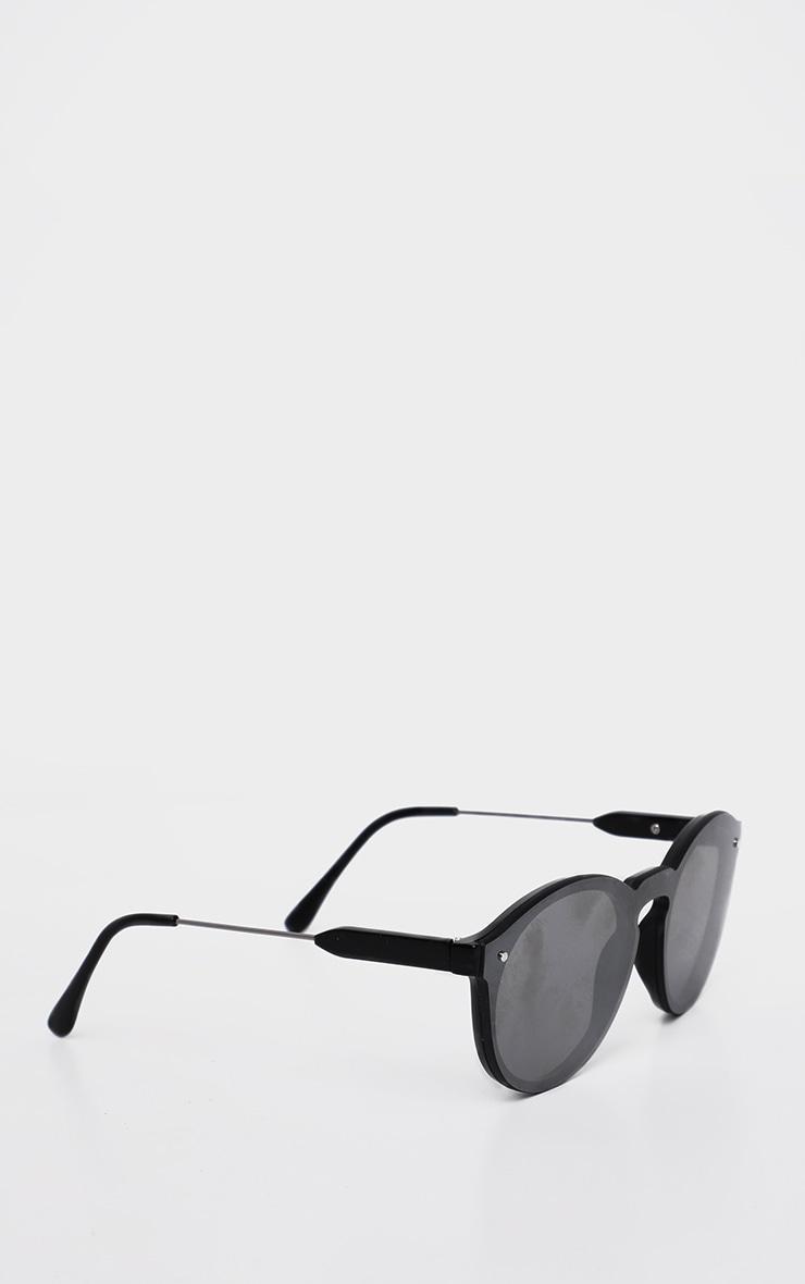 Silver Revo Classic Full Lense Round Sunglasses 3