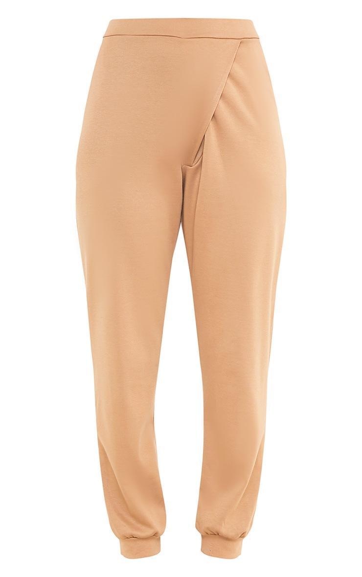 Luisa Camel Jersey Wrap Peg Joggers 3