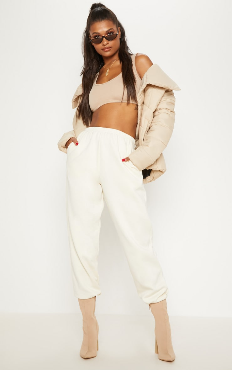 Cream Casual Track Pants