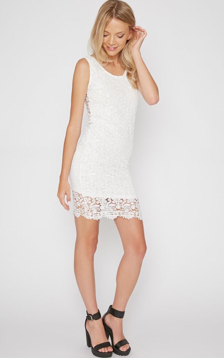 Kalea White Crochet Lace Dress 4