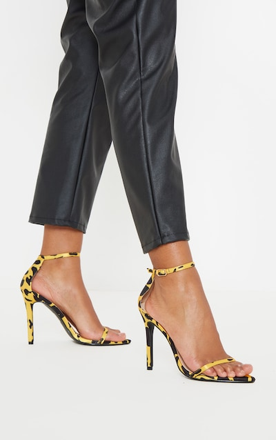 Yellow Leopard Strappy Sandal