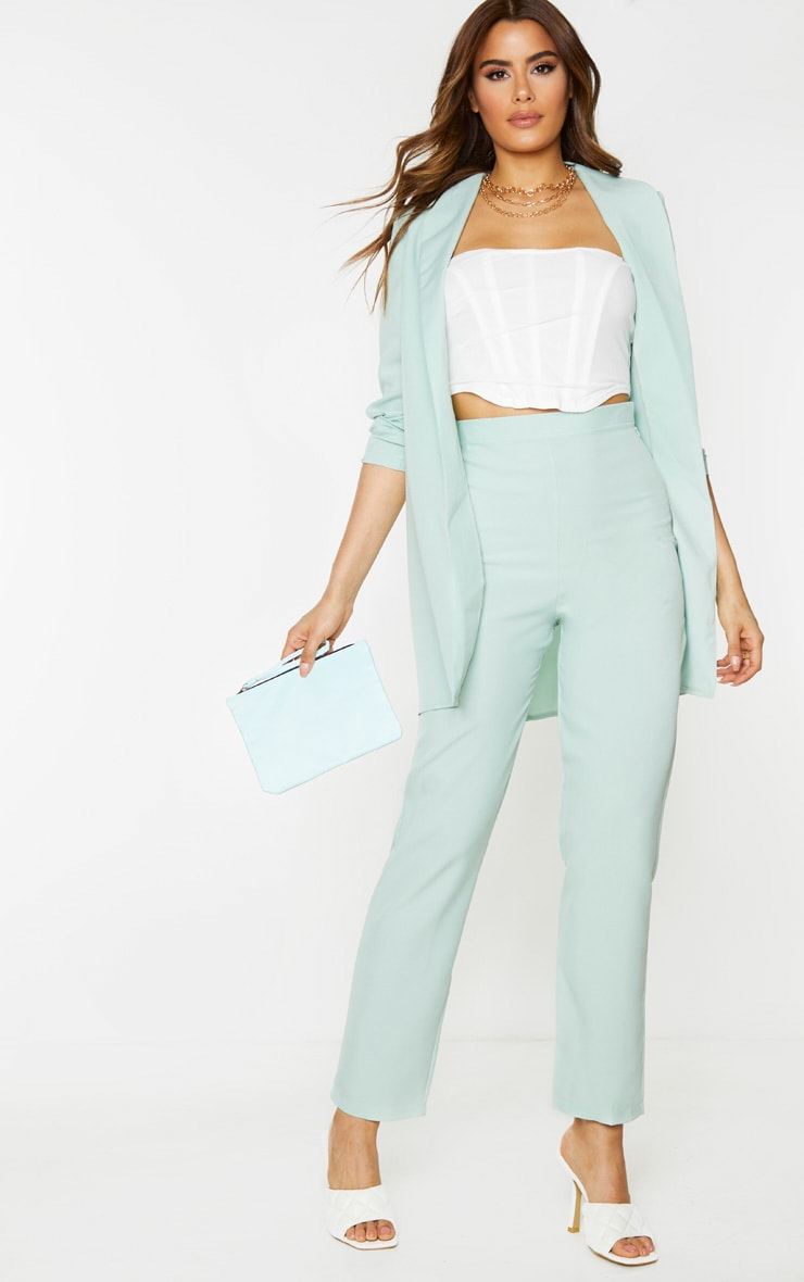Tall Mint Oversized Longline Blazer 3