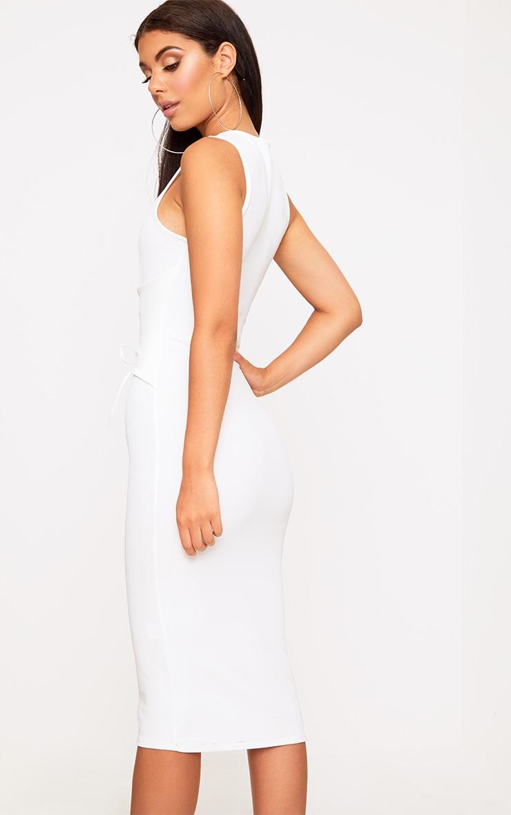 White Corset Detail Midi Dress | Dresses ...