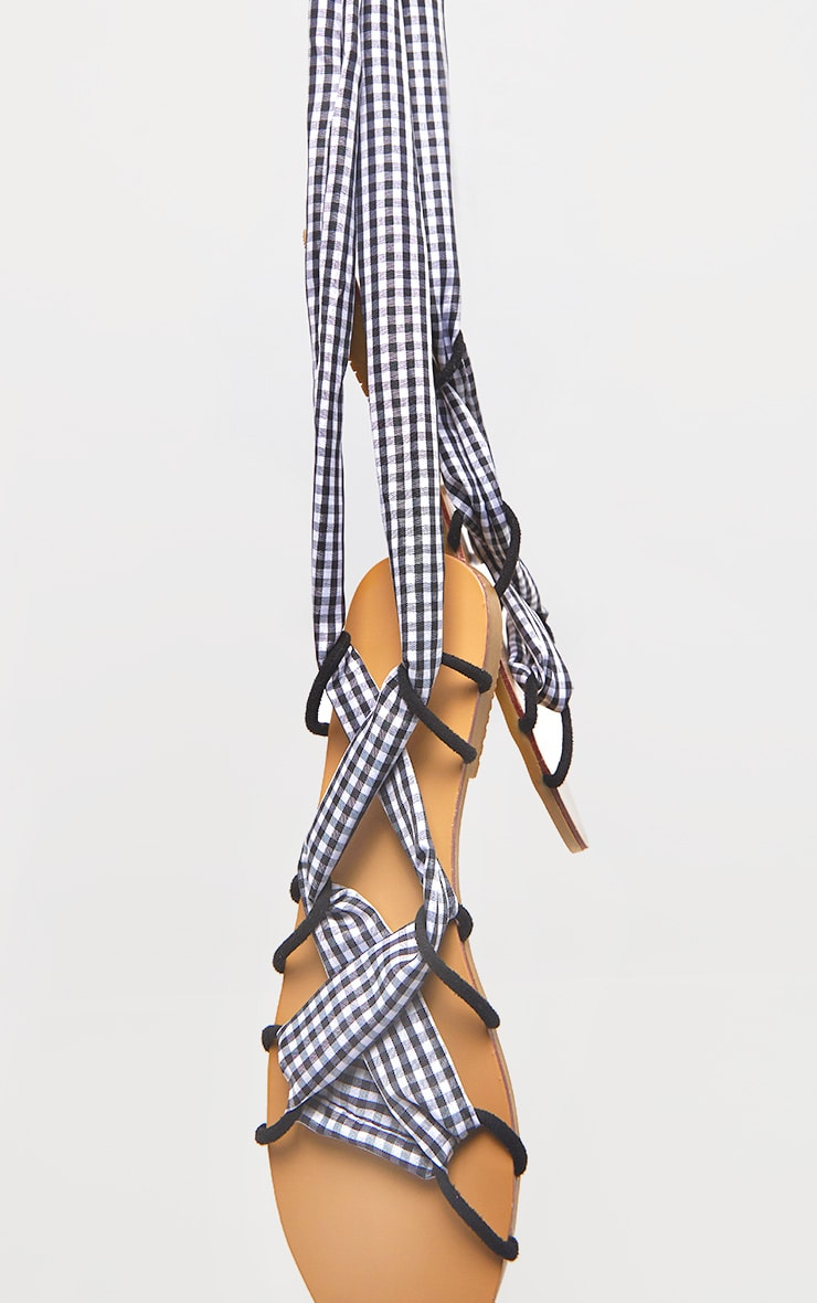 Gingham Ghillie Lace Up Sandal 3