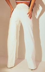 White Fray Detail Split Hem Jeans 3