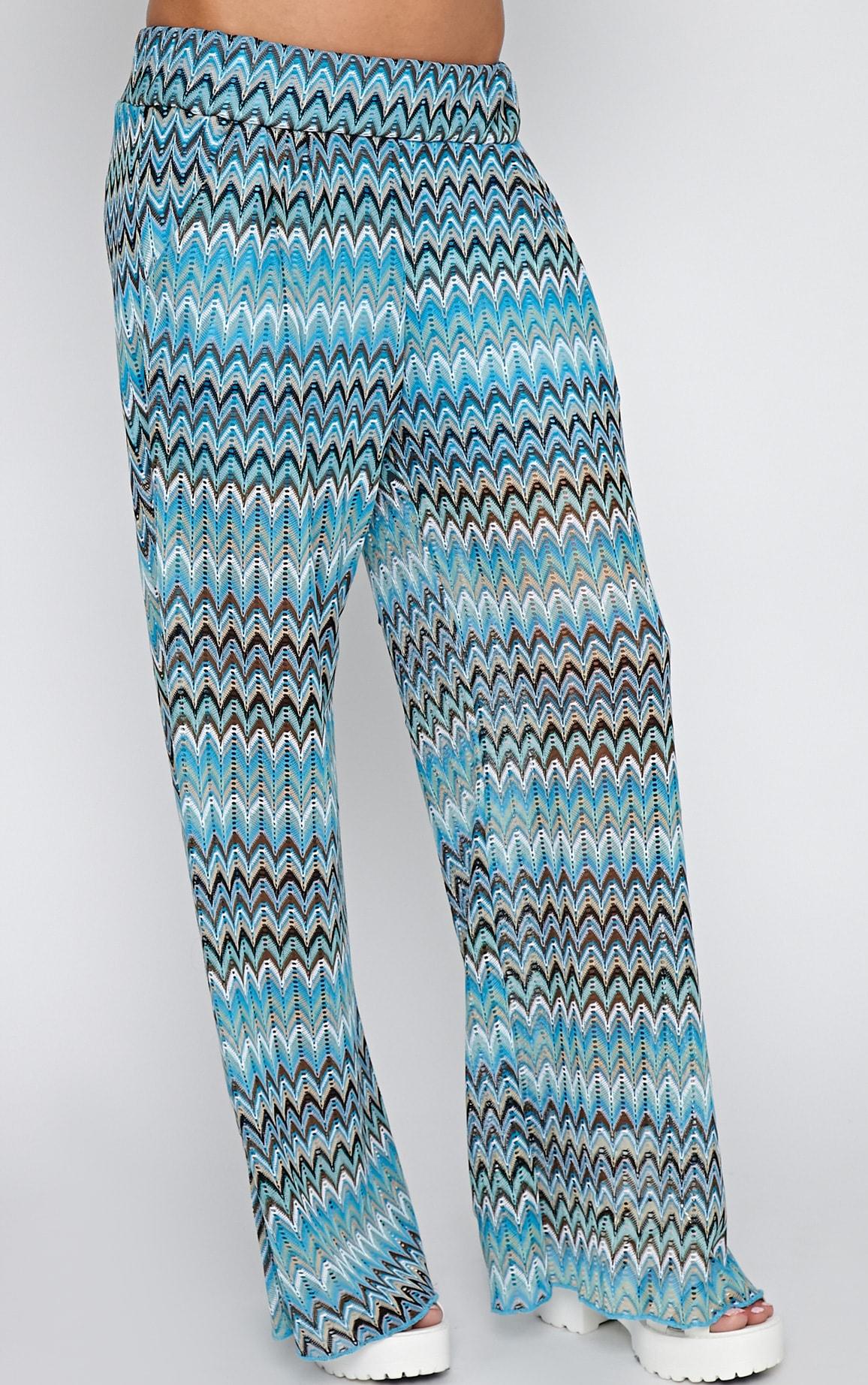 Machiko Blue Zig Zag Trouser 3