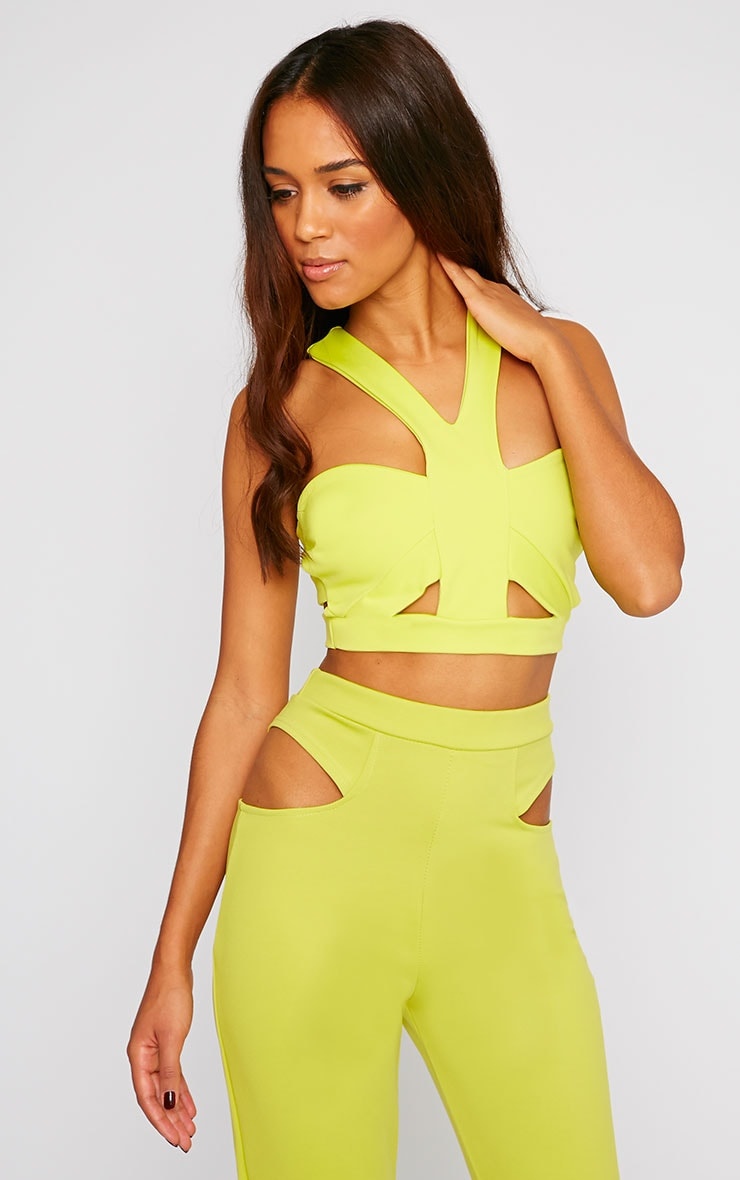 Zaylia Lime Caged Bralet 1