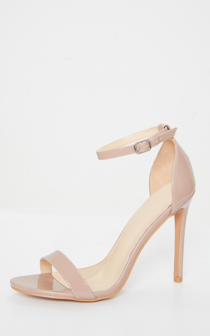 Taupe Clover Strappy Heels 3