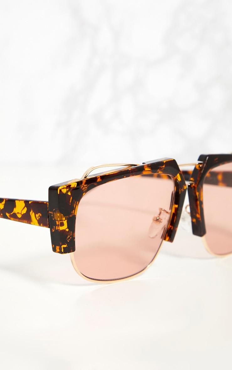 Tortoise Shell Slanted Sunglasses 4