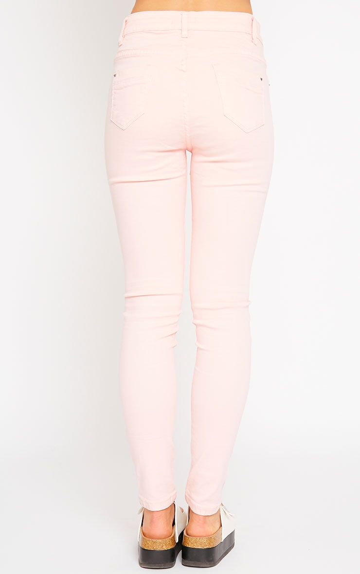 Talli Baby Pink Ripped Knee Jeans 4