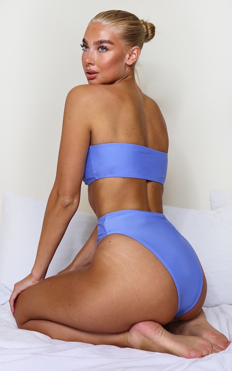 Cornflower Blue Mix & Match Bandeau Bikini Top 2
