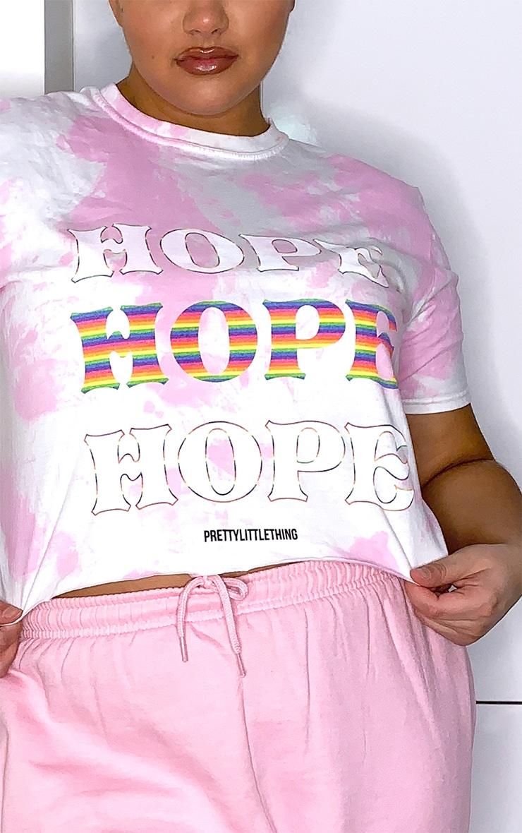 Plus Pink NHS Tie Dye Hope Crop T Shirt 4