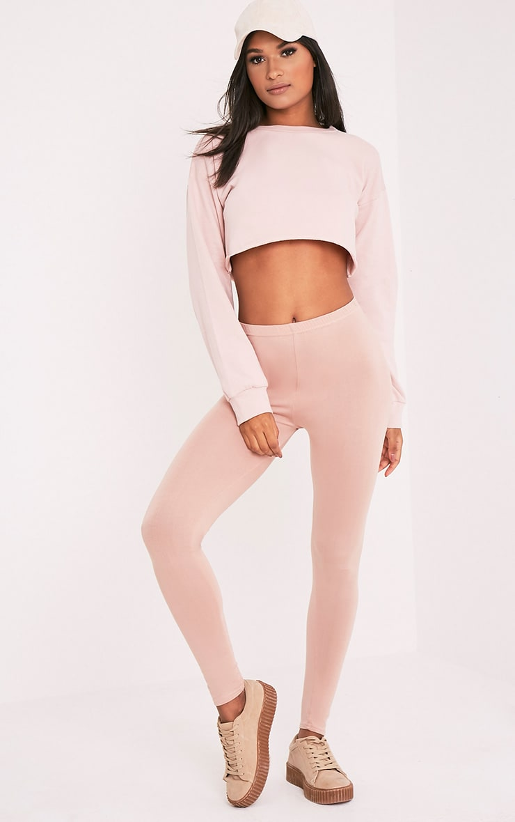Beau Pink Cut Off Crop Longsleeve Sweater 6
