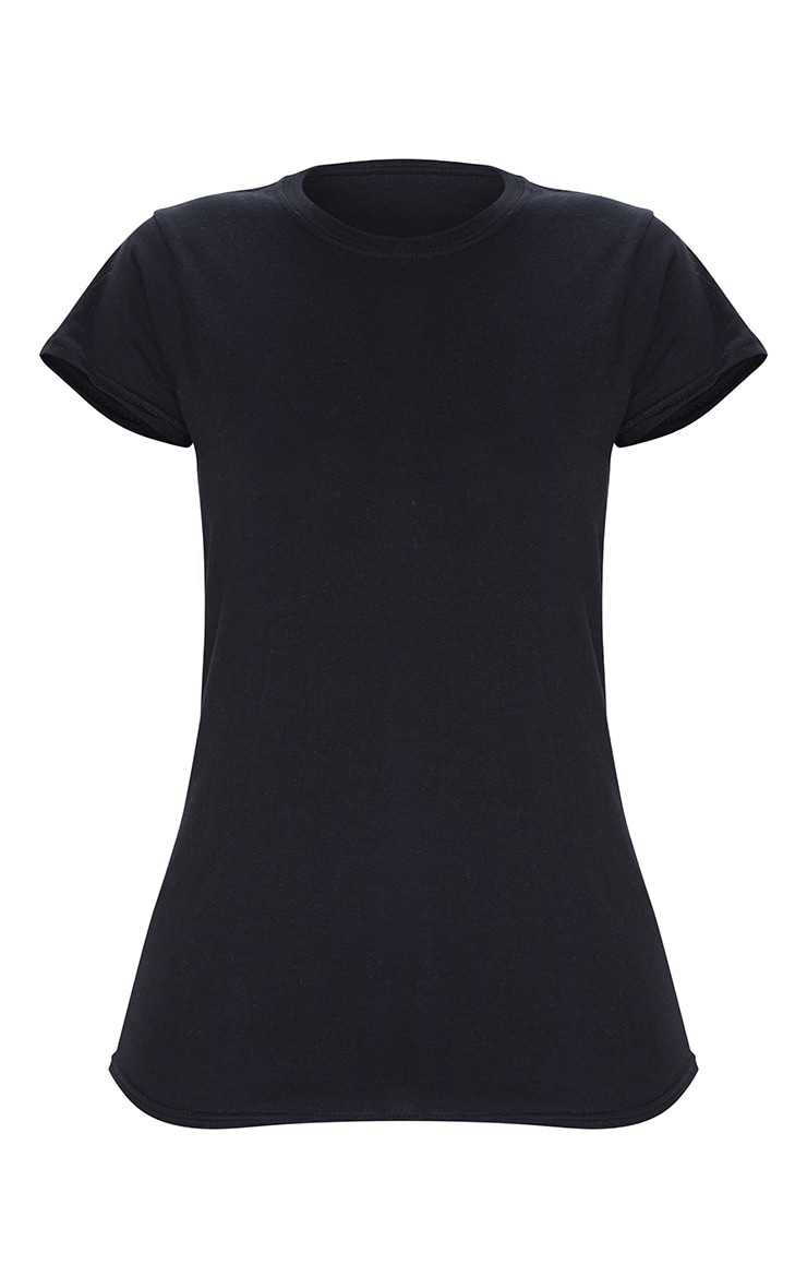 Black Fitted T Shirt 5
