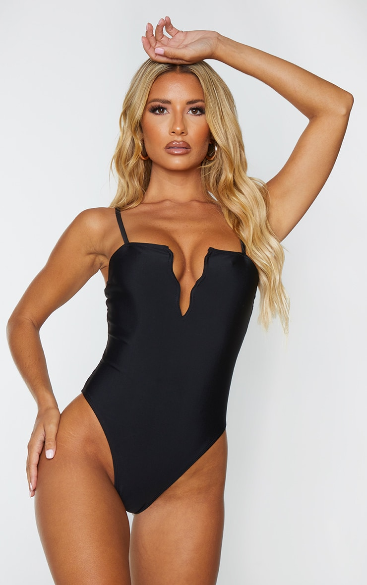 Black Wire Detail Swimsuit 1