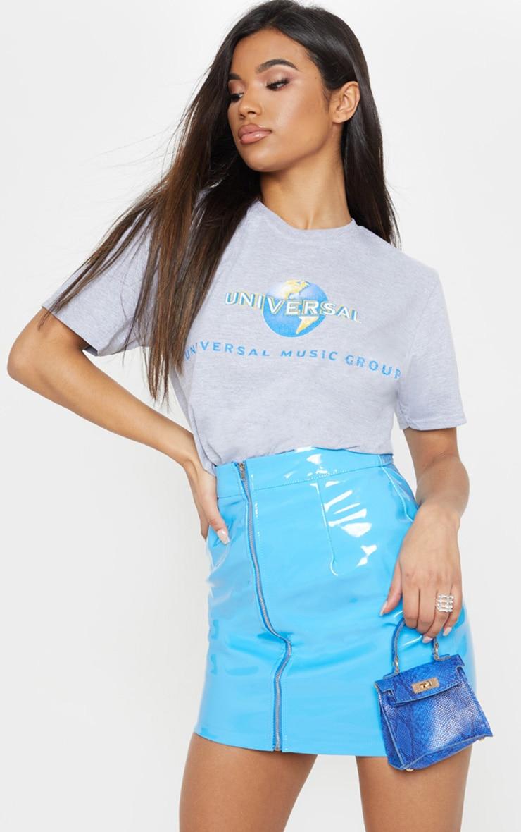 Grey Universal Slogan Oversized T Shirt 1