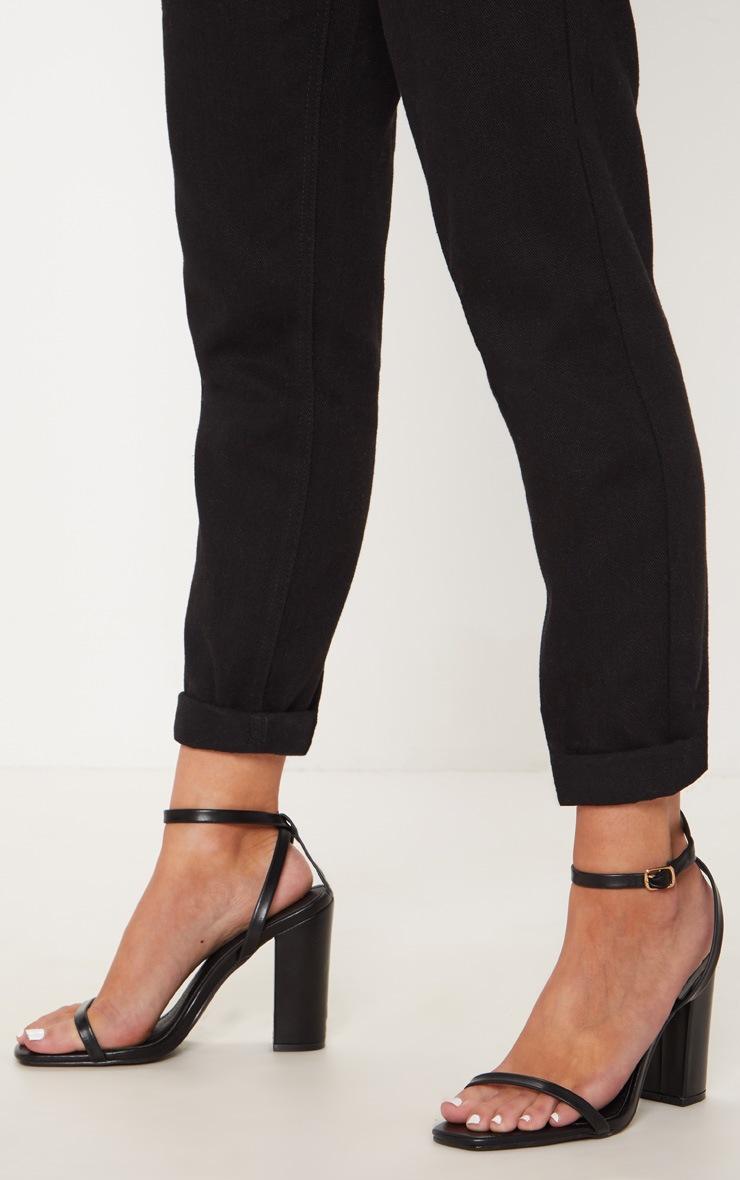 76cc7a02ff3 Black Square Toe Block Heel Sandal image 1