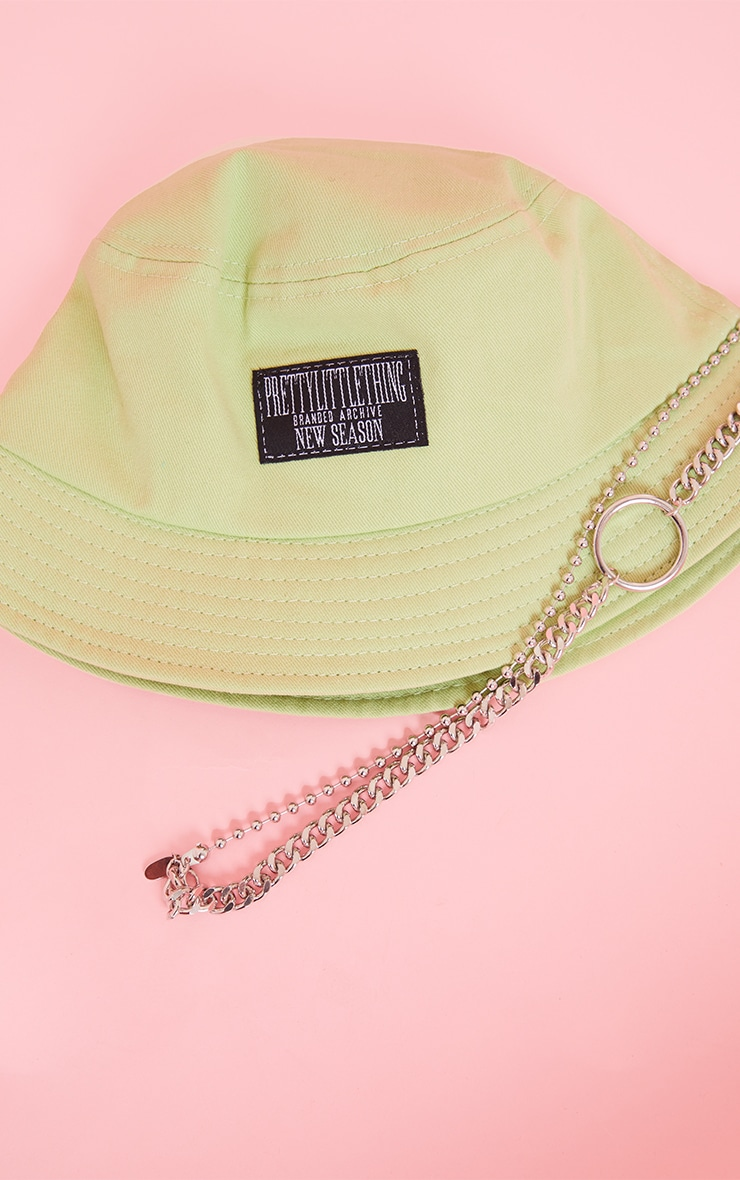 PRETTYLITTLETHING Green Bucket Hat 2