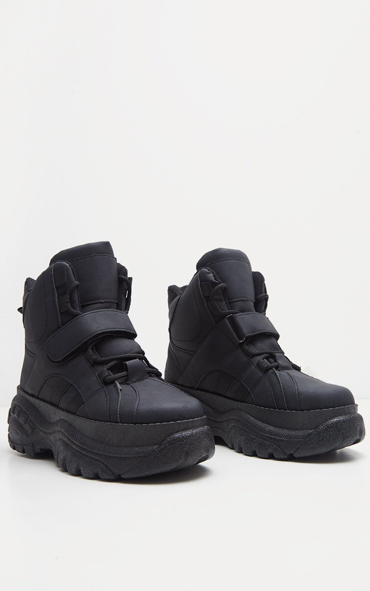 Black High Top Flatform Trainer 3