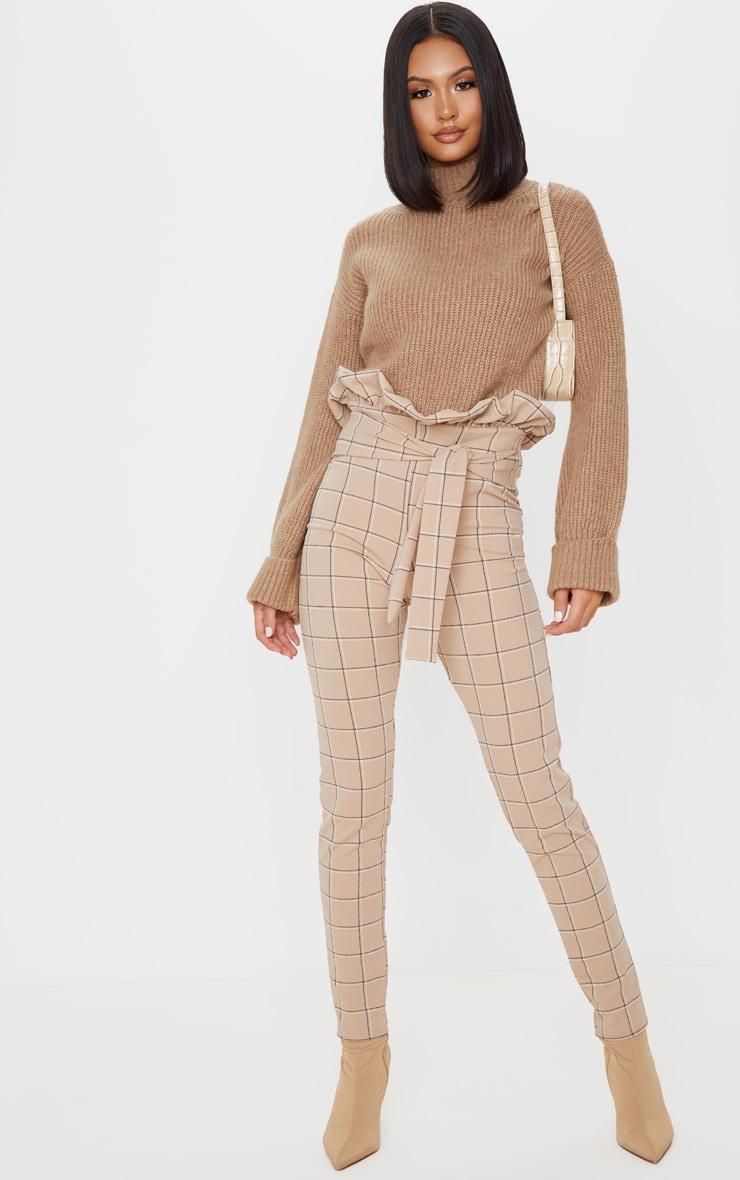Stone Check Tweed Check Paperbag Skinny Pants 1