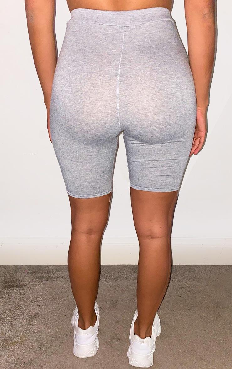 Shape Grey Cotton High Waist Cycling Shorts 3