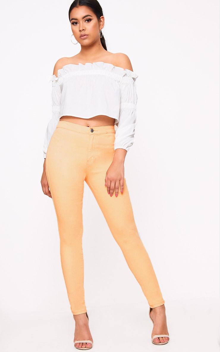 Orange Skinny Jean 1