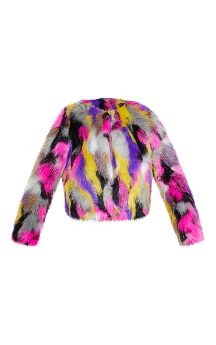 Elle Multi Faux Fur Jacket 3