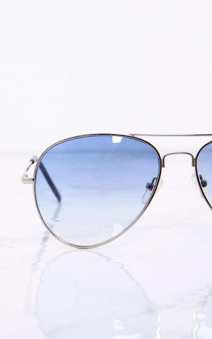 Kelie lunettes aviateur à verres teintés bleus 6