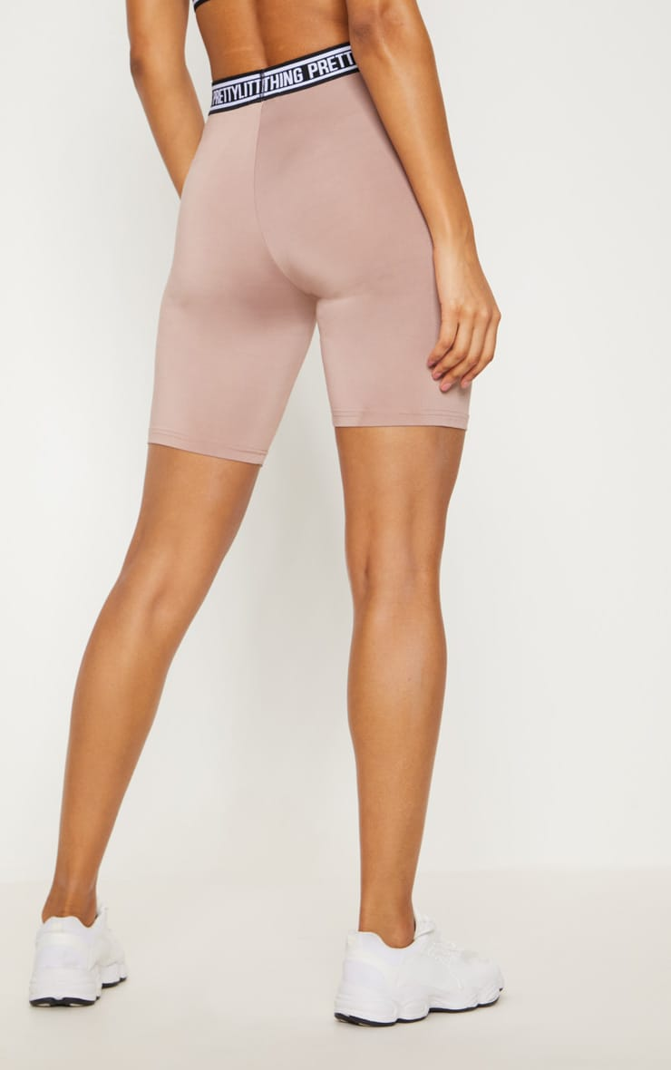 PRETTYLITTLETHING Taupe Cycling Shorts 5