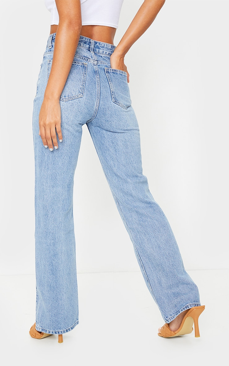 Vintage Wash Double Side Seam Split Jeans 3