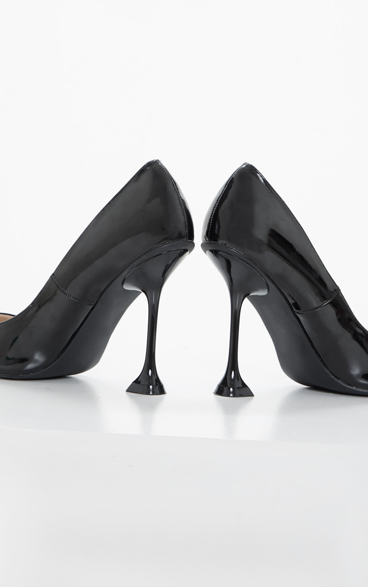 Black Cake Stand Heel Court Shoe 3