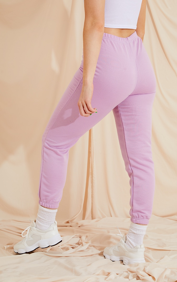Lilac Basic Slim Fit Joggers 3