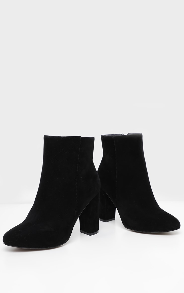 Black Wide Fit Behati Block Heeled Ankle Boot 3