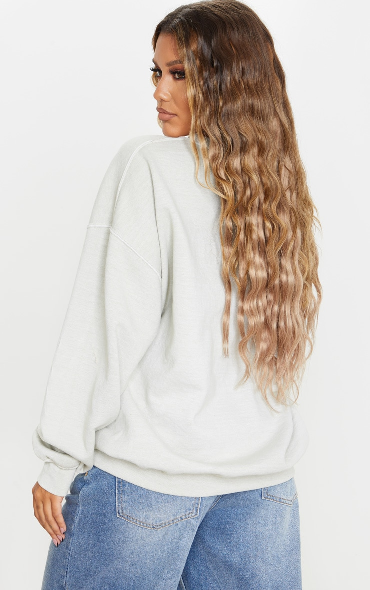Sage Green Ultimate Oversized Sweatshirt 2
