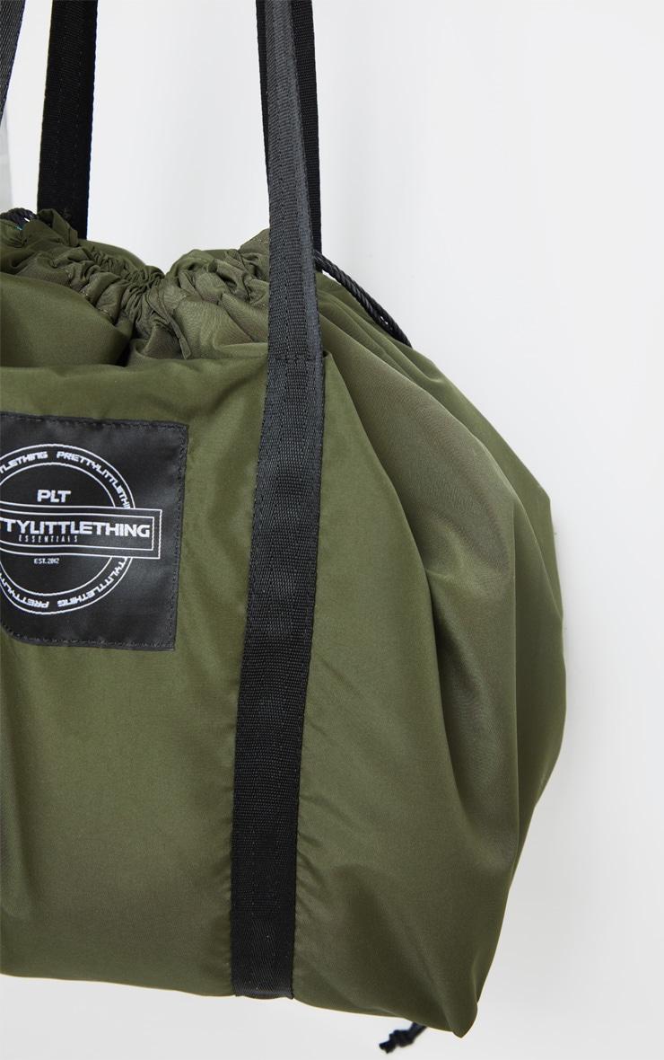 PRETTYLITTLETHING Khaki Utility Tote Bag 2