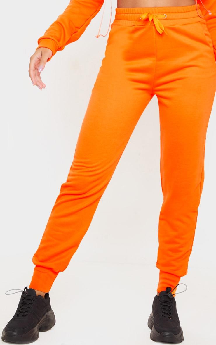 Orange Basic Gym Sweat Jogger 2