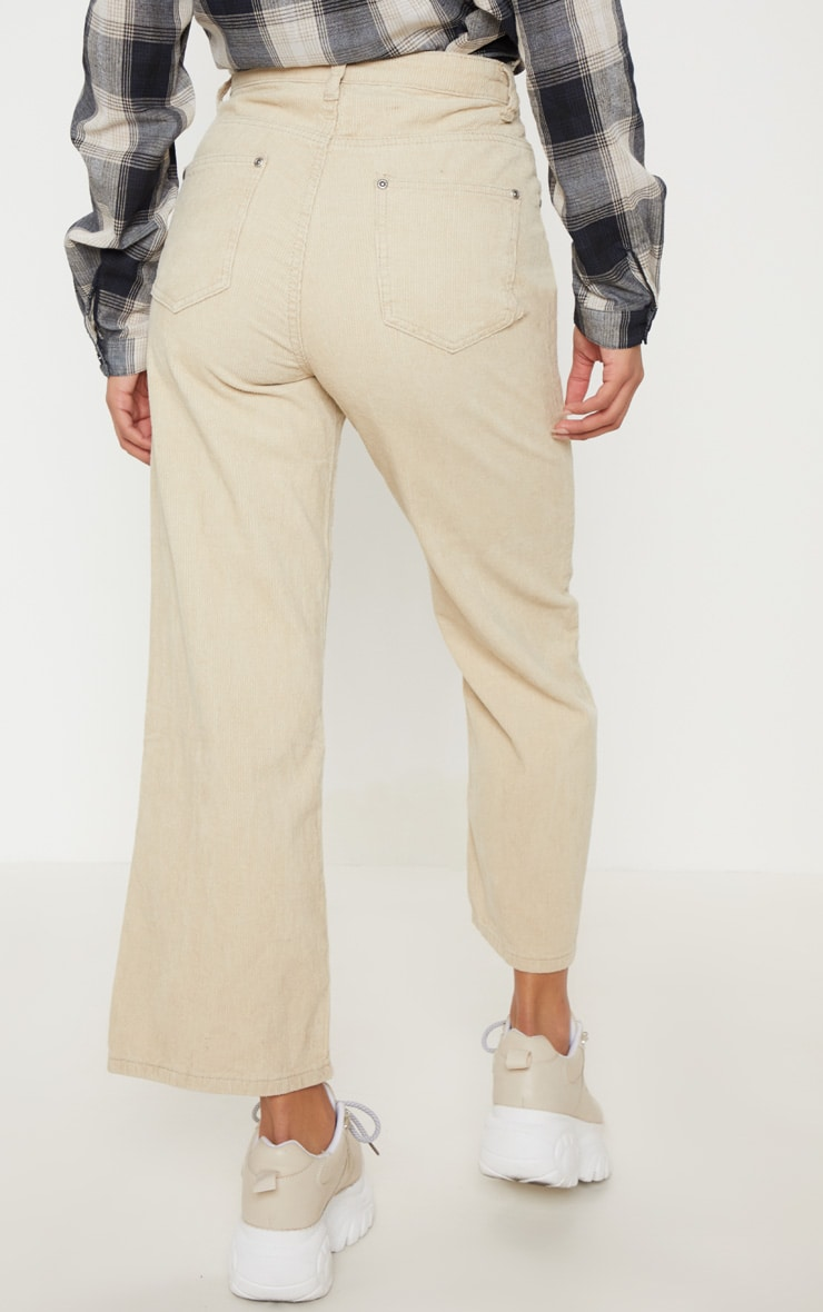 Stone Button Through Wide Leg Cropped Jeans  5