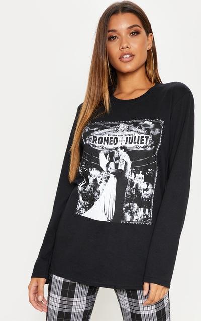 Top manches longues noir à slogan Romeo And Juliet adb1663187fb