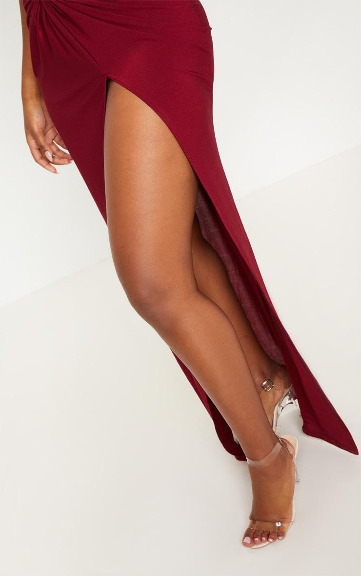 d04f52502eae Shape Burgundy Slinky Wrap Detail Maxi Dress | PrettyLittleThing