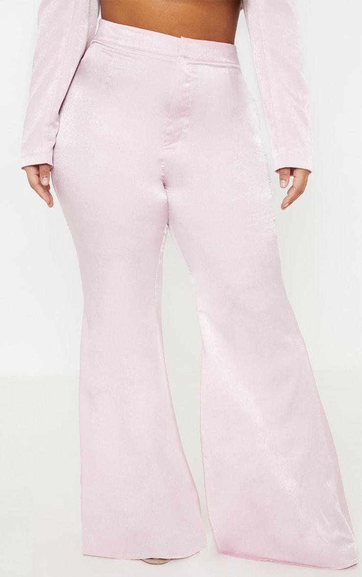 Plus Light Pink Tailored Extreme Flared Pants 2