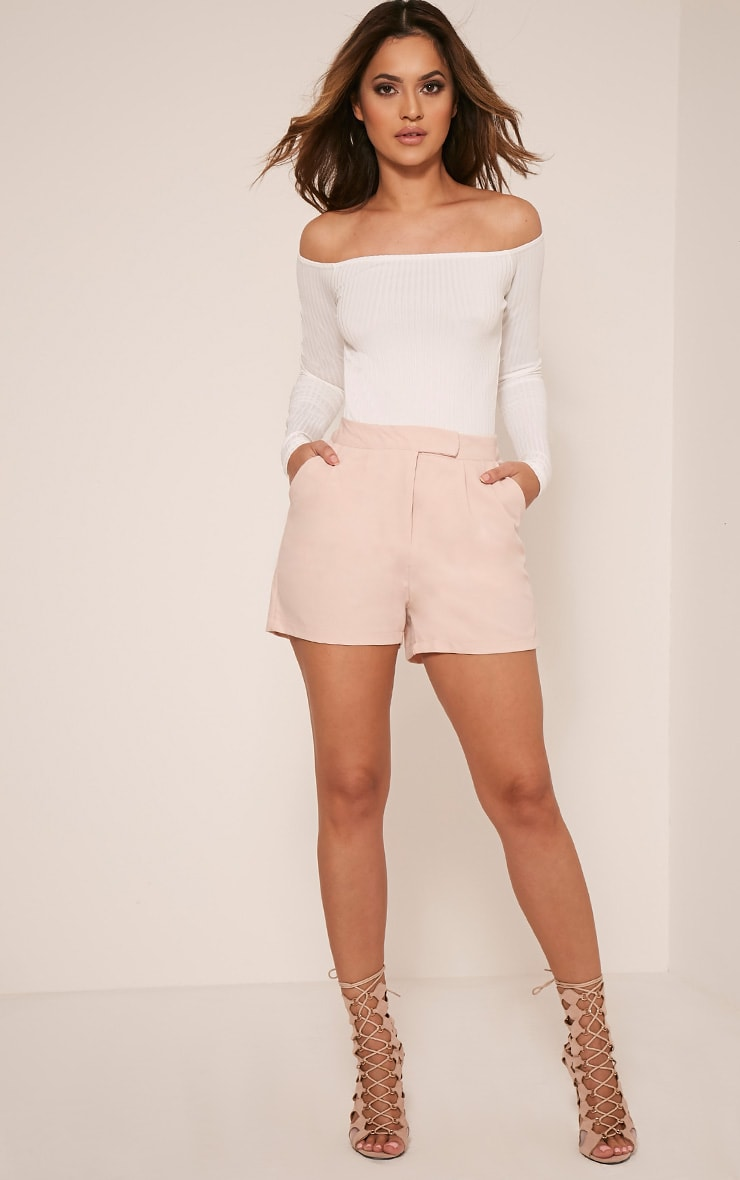 Lilith Cream Ribbed Bardot Bodysuit 6